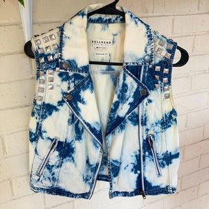 Bullhead Vintage Denim Vest Womens Medium